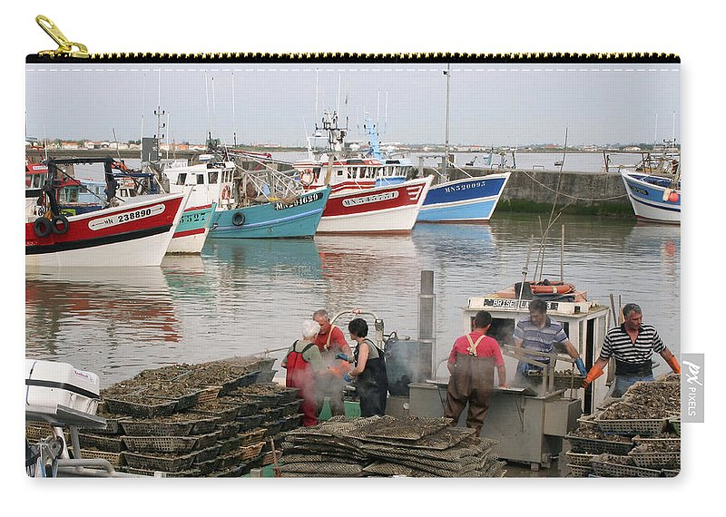 Oyster Harvest Carry-all Pouch featuring the photograph Oyster Harvest by Wes and Dotty Weber