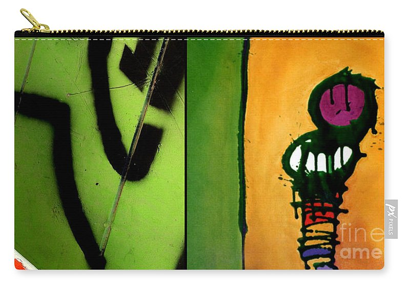 Marlene Burns Carry-all Pouch featuring the painting p HOTography 51 by Marlene Burns