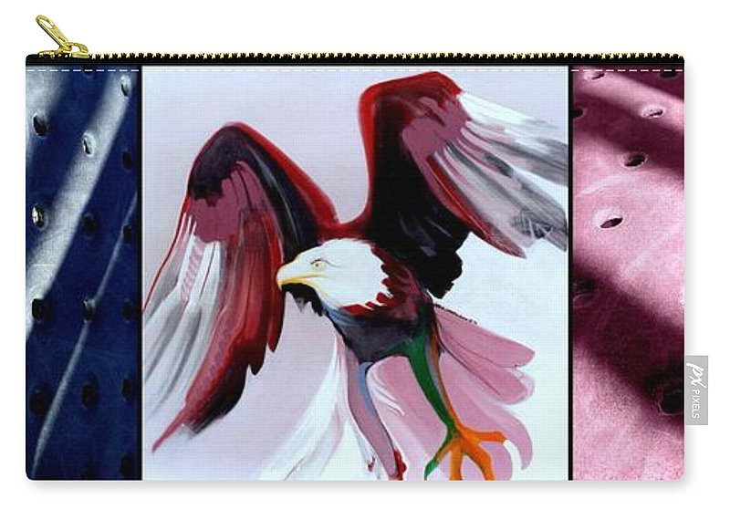 Marlene Burns Carry-all Pouch featuring the painting p HOTography 55 by Marlene Burns