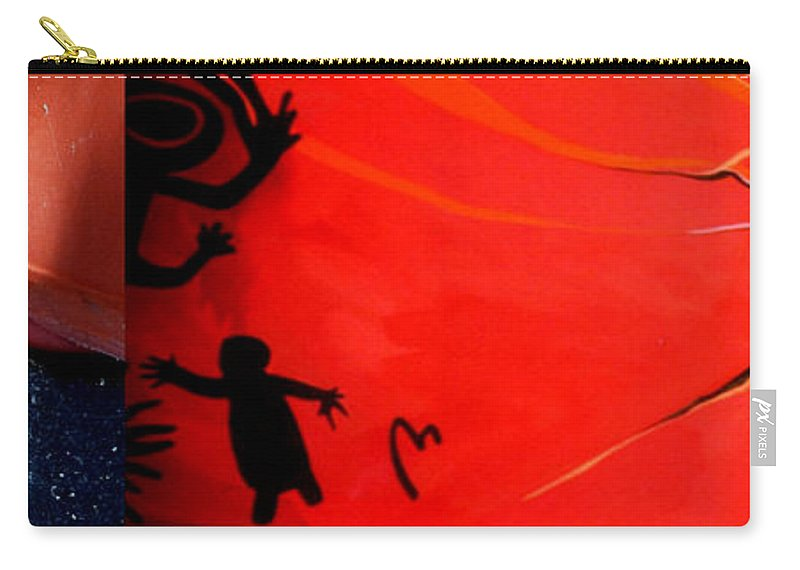 Marlene Burns Carry-all Pouch featuring the painting p HOTography 67 by Marlene Burns