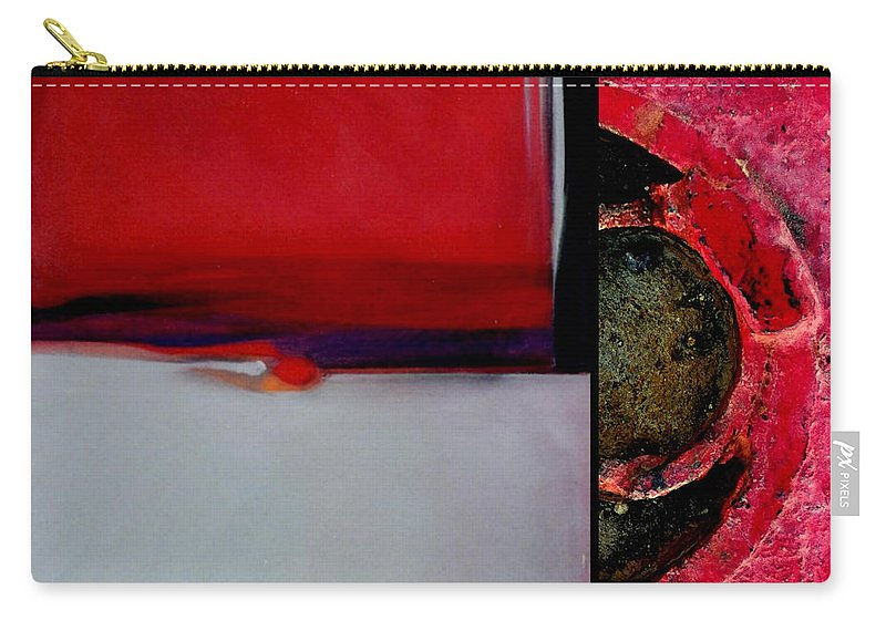Marlene Burns Carry-all Pouch featuring the painting p HOTography 68 by Marlene Burns