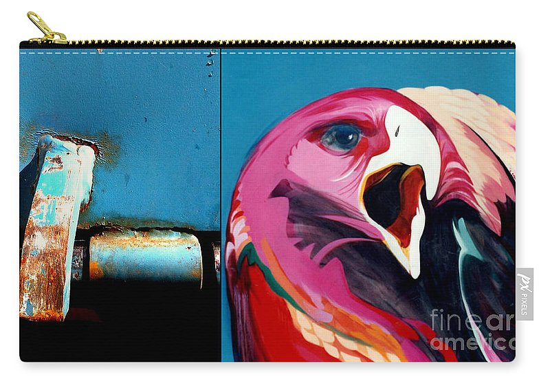 Marlene Burns Carry-all Pouch featuring the painting p HOTography 70 by Marlene Burns