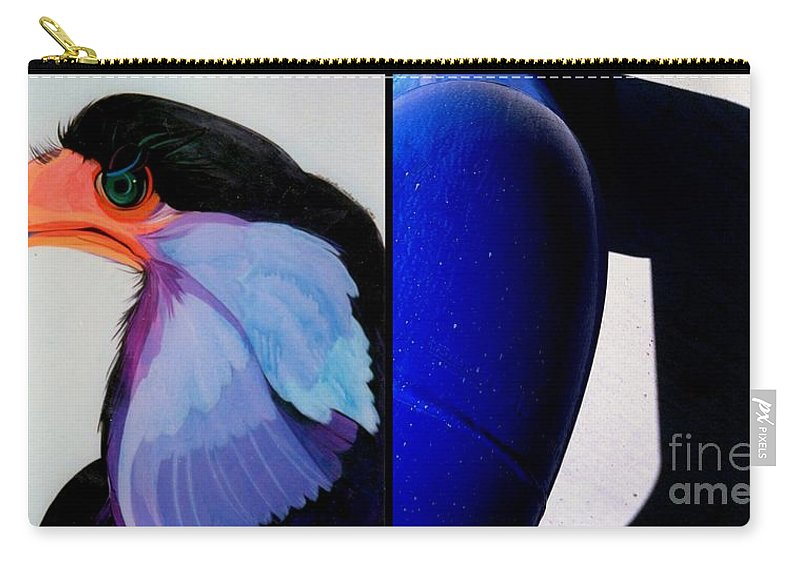 Marlene Burns Carry-all Pouch featuring the painting p HOTography 71 by Marlene Burns