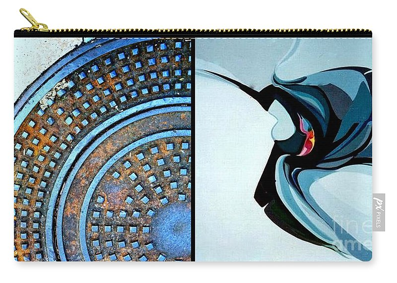 Marlene Burns Carry-all Pouch featuring the painting p HOTography 74 by Marlene Burns