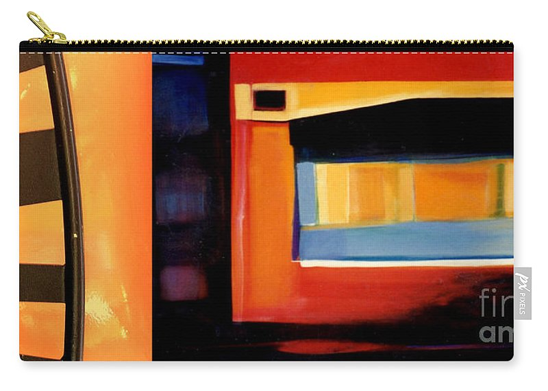 Marlene Burns Carry-all Pouch featuring the painting p HOTography 75 by Marlene Burns