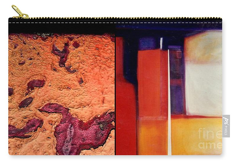Marlene Burns Carry-all Pouch featuring the painting p HOTography 77 by Marlene Burns
