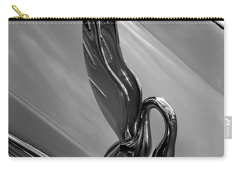 Fine Art Photography Carry-all Pouch featuring the photograph Packard Swan by David Lee Thompson