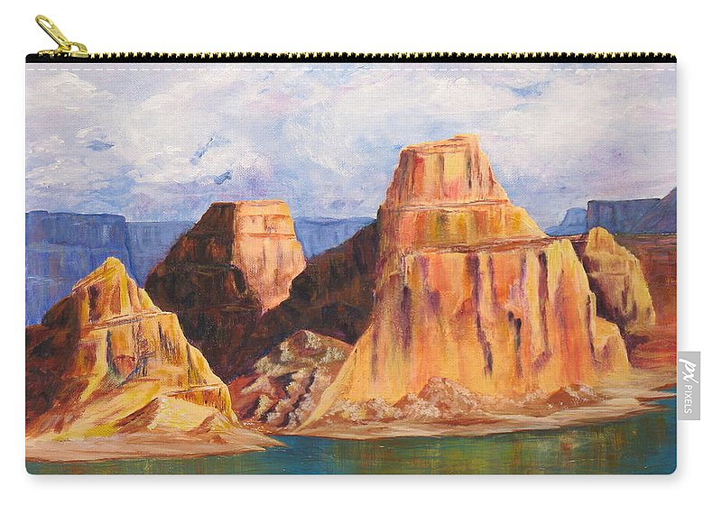 Landscape Carry-all Pouch featuring the painting Padre Bay Lake Powell by Jennifer Hillman