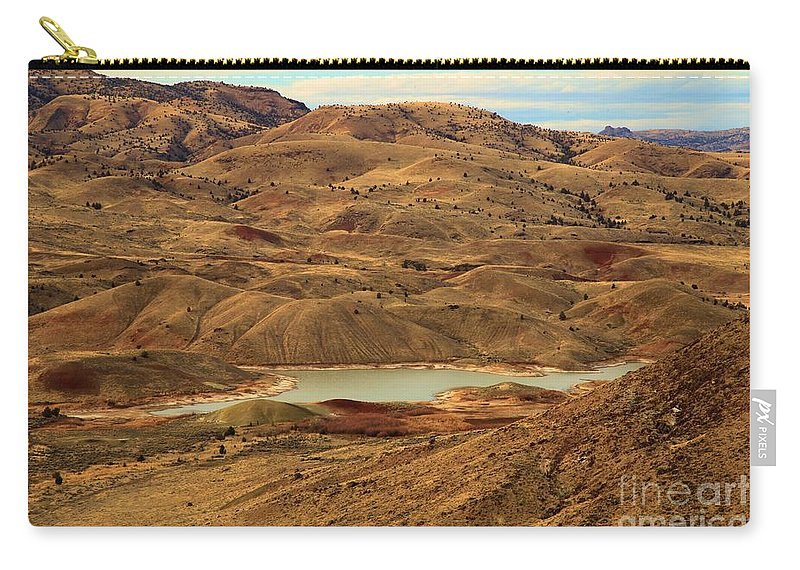 John Day Fossil Beds Carry-all Pouch featuring the photograph Paint Around The Lake by Adam Jewell