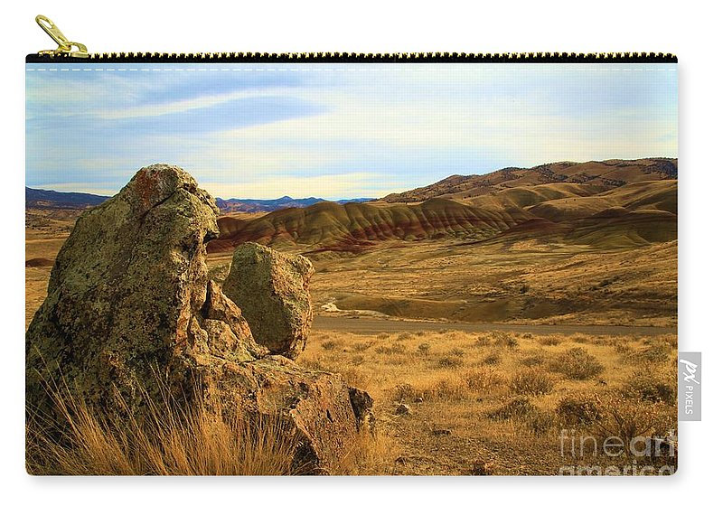 John Day Fossil Beds Carry-all Pouch featuring the photograph Painted Afternoon by Adam Jewell