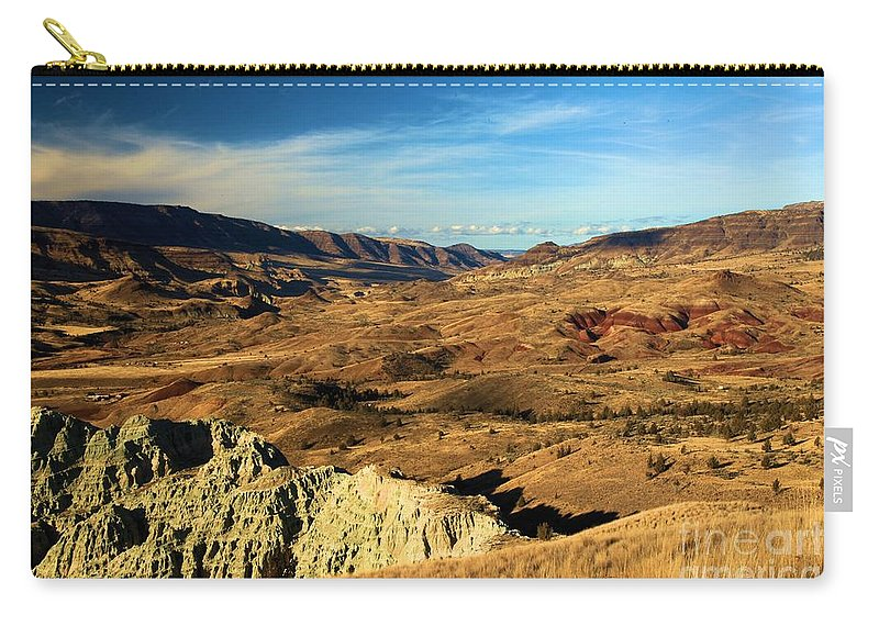 John Day Fossil Beds National Monument Carry-all Pouch featuring the photograph Painted Blue Basin by Adam Jewell