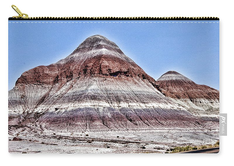 Petrified Forest Carry-all Pouch featuring the photograph Painted Desert Mounds by Jon Berghoff
