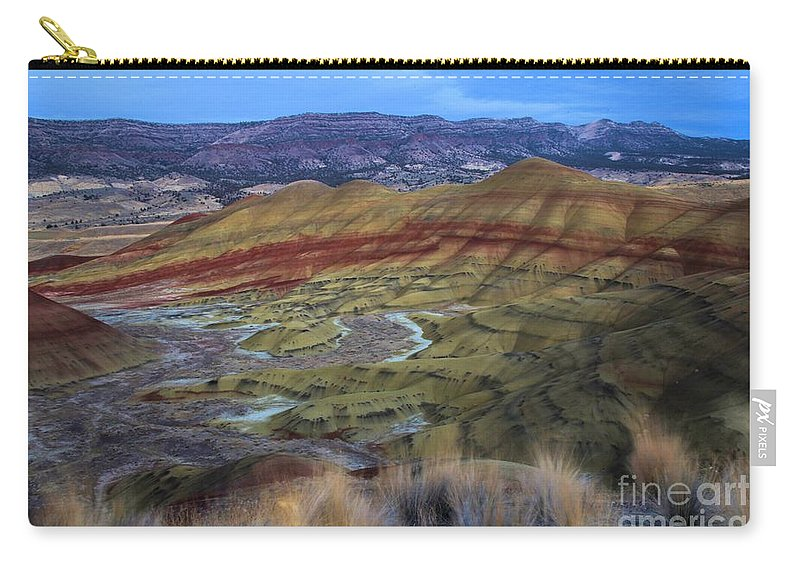 John Day Fossil Beds Carry-all Pouch featuring the photograph Painted Hills At Dusk by Adam Jewell