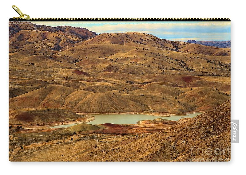 John Day Fossil Beds Carry-all Pouch featuring the photograph Painted Hills Lake by Adam Jewell