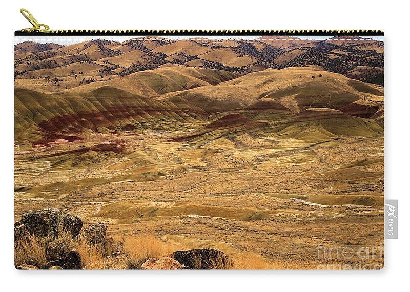 John Day Fossil Beds Carry-all Pouch featuring the photograph Painted Hills Landscape by Adam Jewell