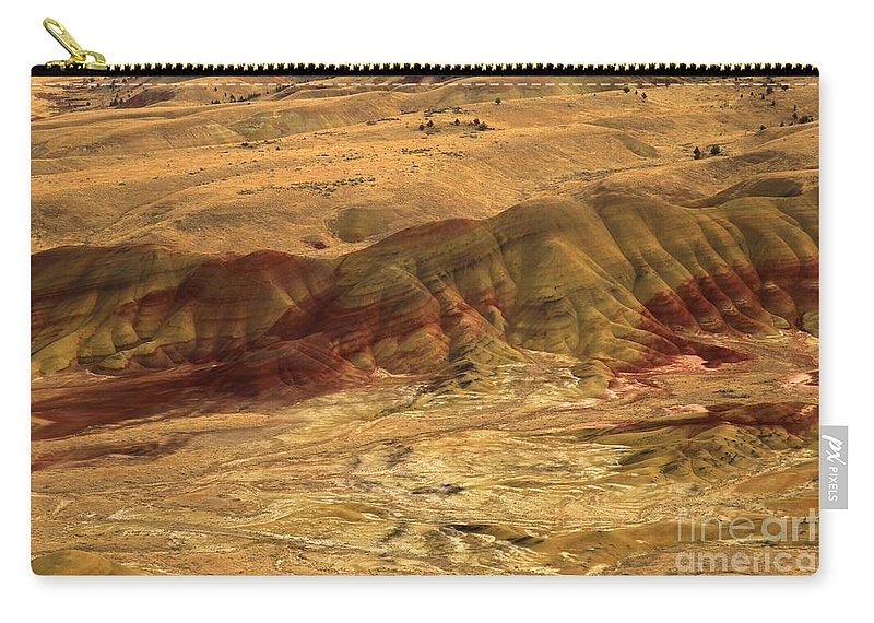 John Day Fossil Beds Carry-all Pouch featuring the photograph Painted Ridge by Adam Jewell
