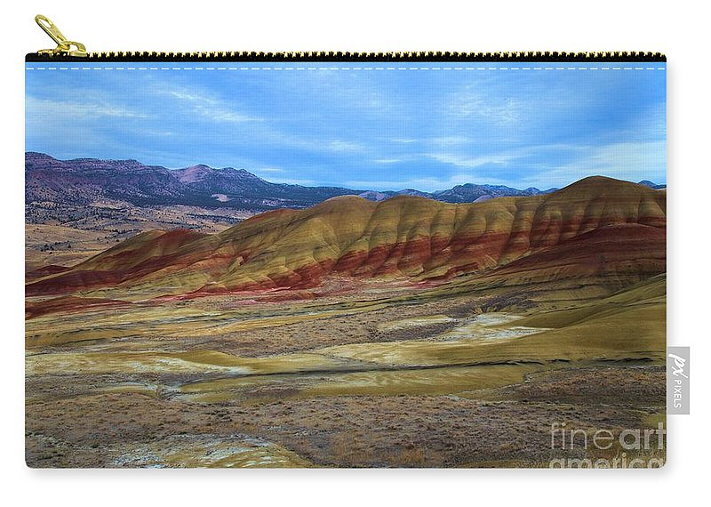 John Day Fossil Beds Carry-all Pouch featuring the photograph Painted Sky Over Painted Hills by Adam Jewell