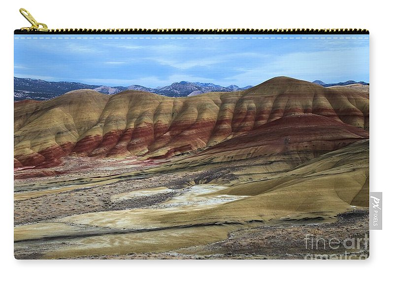 John Day Fossil Beds Carry-all Pouch featuring the photograph Painted Sunset by Adam Jewell