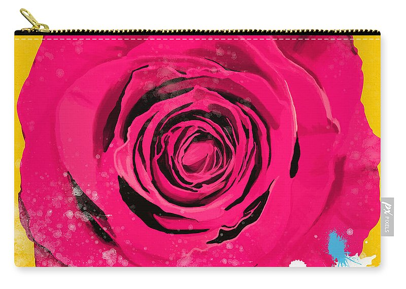 Affection Carry-all Pouch featuring the painting Painting Of Single Rose by Setsiri Silapasuwanchai