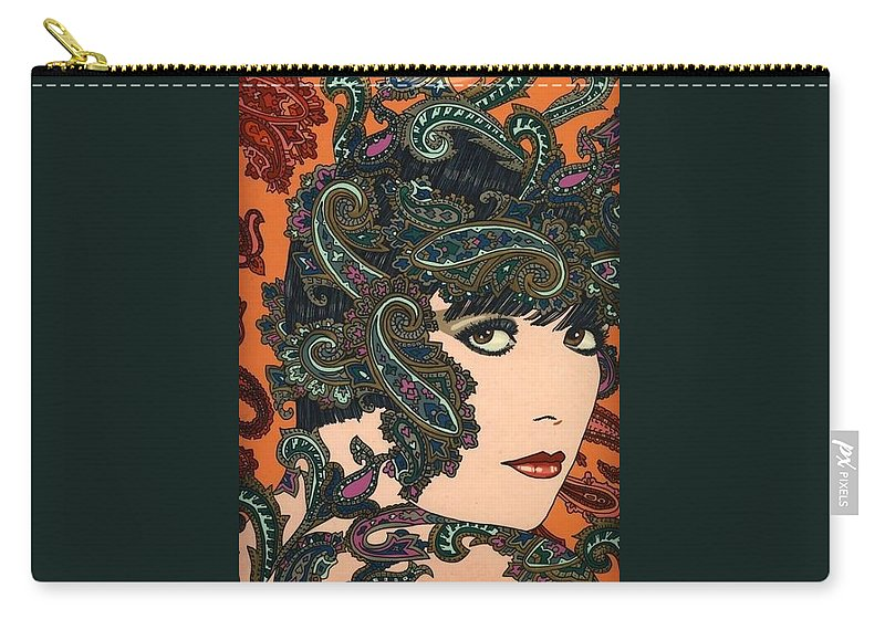 Louise Brooks Carry-all Pouch featuring the painting Paisley by Richard Laeton
