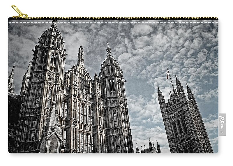Palace Of Westminster Carry-all Pouch featuring the photograph Palace Of Westminster by Heather Applegate