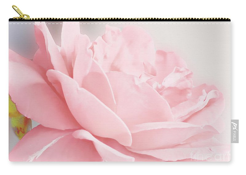 Flowers Carry-all Pouch featuring the photograph Pale Pink Rose by Debbie Portwood