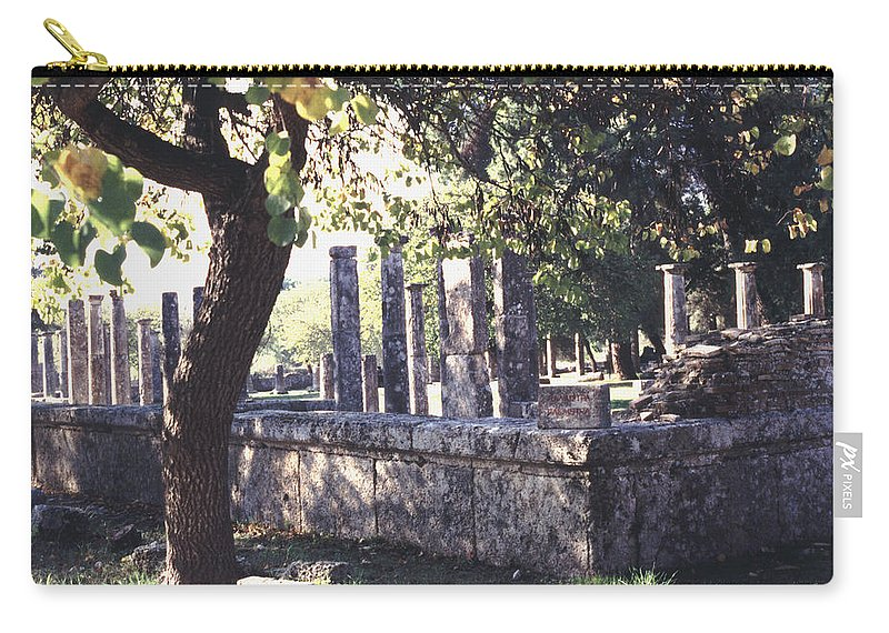 Ancient Carry-all Pouch featuring the photograph Palestra Olympic Site Greece by Tom Wurl