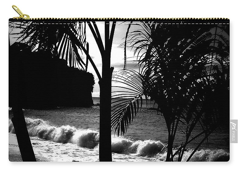 Palm Carry-all Pouch featuring the photograph Palm Tree Silouette by Kimberly Perry