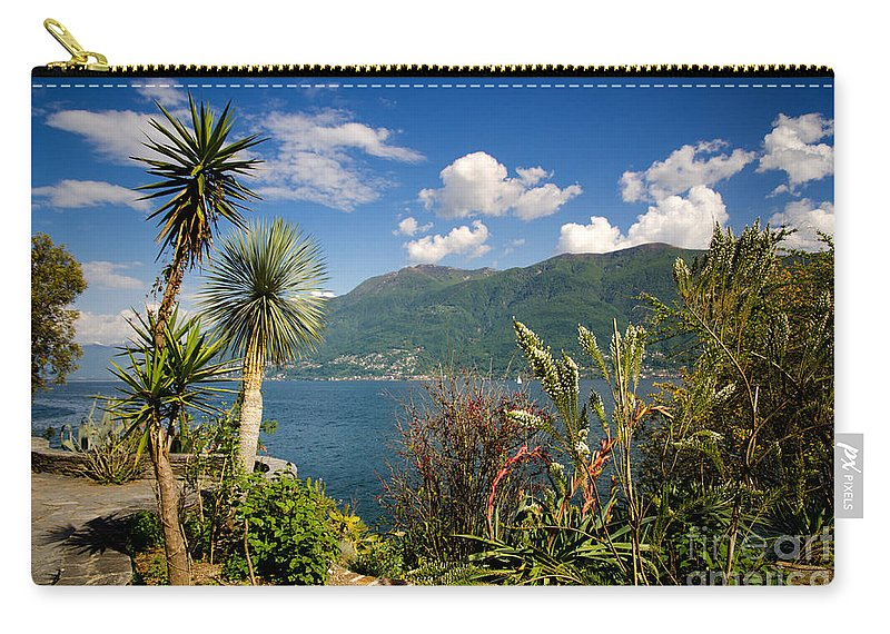 Palm Trees Carry-all Pouch featuring the photograph Palm Trees by Mats Silvan