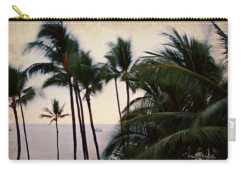 Palm Carry-all Pouch featuring the photograph Palms In The Breeze by Paulette B Wright