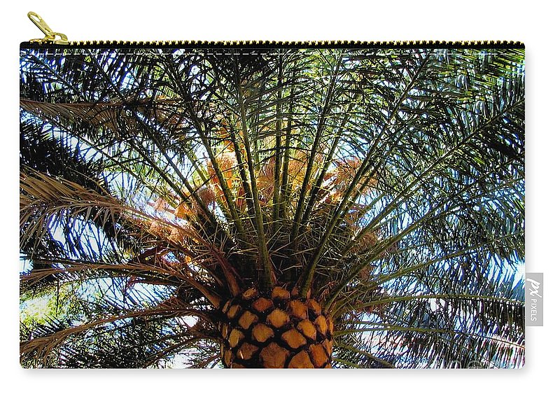 Palm Carry-all Pouch featuring the photograph Palms by Art Dingo