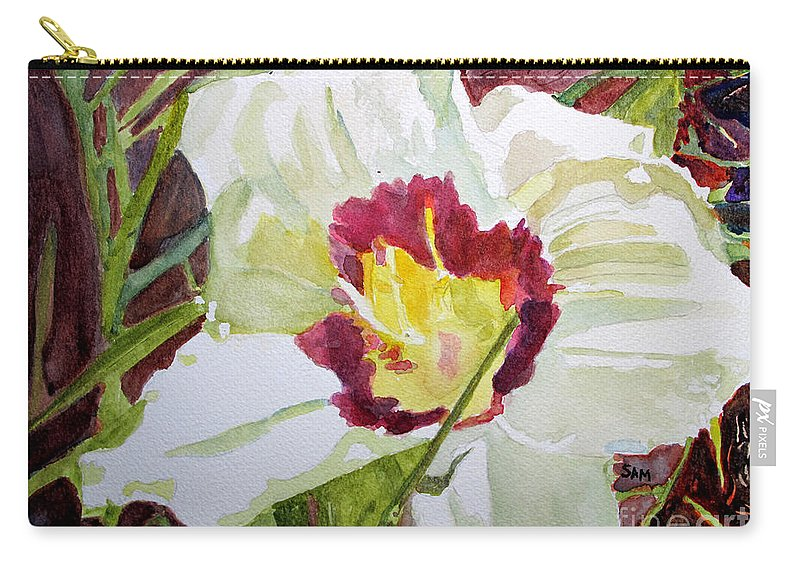 Pandora Carry-all Pouch featuring the painting Pandora's Box by Sandy McIntire