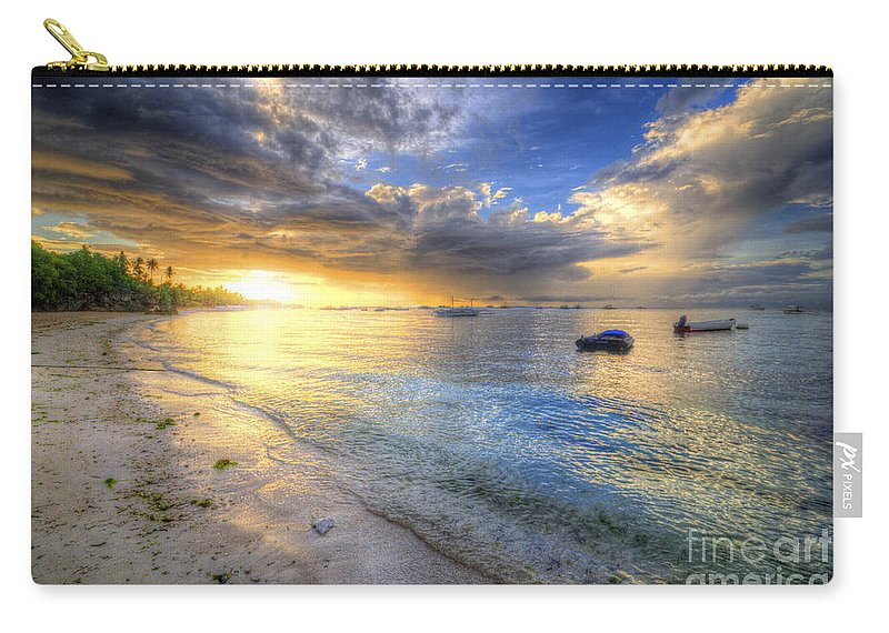 Yhun Suarez Carry-all Pouch featuring the photograph Panglao Island Sunrise by Yhun Suarez