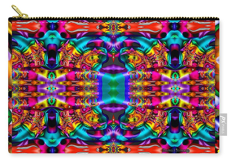 Lion Carry-all Pouch featuring the digital art Panthera by Robert Orinski