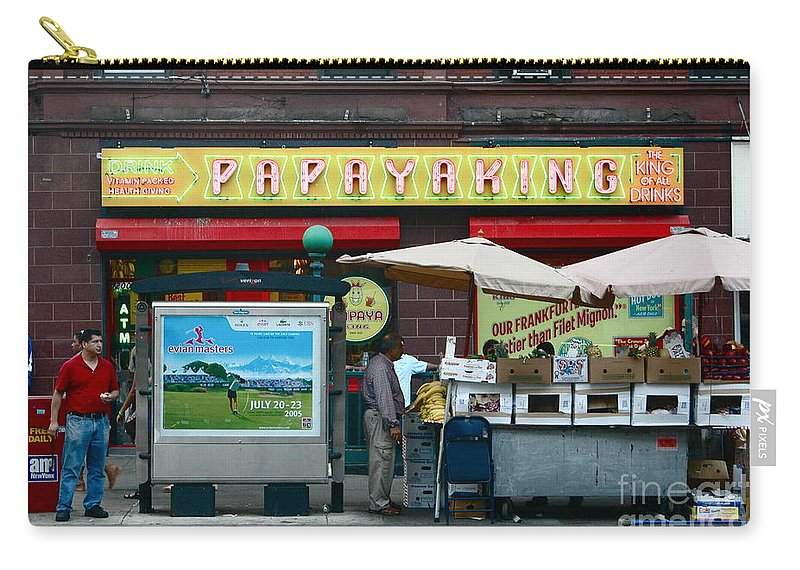 Nyc Carry-all Pouch featuring the photograph Papaya King by Mark Gilman