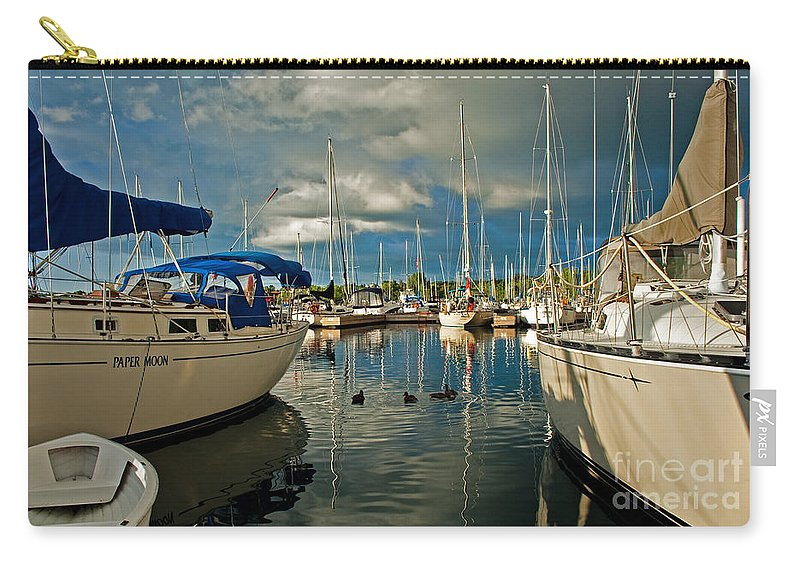Sailboat Carry-all Pouch featuring the photograph Paper Moon by Barbara McMahon