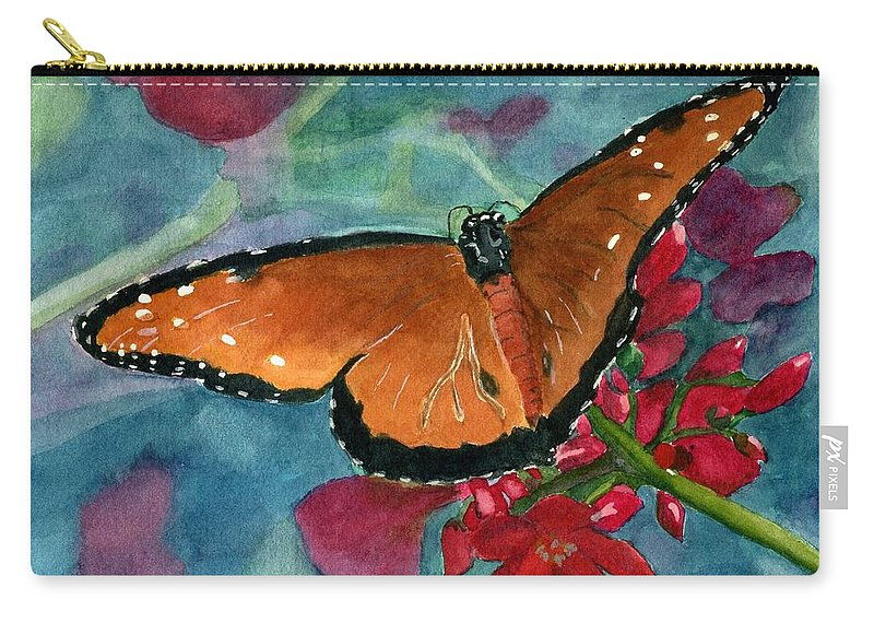 Butterfly Carry-all Pouch featuring the painting Papilio Fandango by Lynne Reichhart