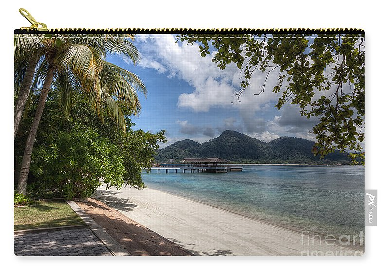 Beach Carry-all Pouch featuring the photograph Paradise Island by Adrian Evans