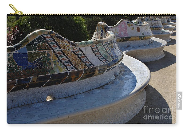 Parc Guell Carry-all Pouch featuring the photograph Parc Guell Spain by Bob Christopher