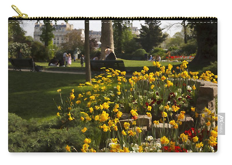Invalides Carry-all Pouch featuring the photograph Parc Les Invalides In Spring by Louise Heusinkveld