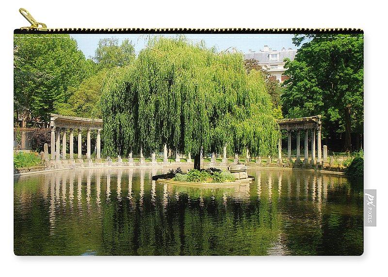 Paris Carry-all Pouch featuring the photograph Parc Monceau Paris by Andrew Fare