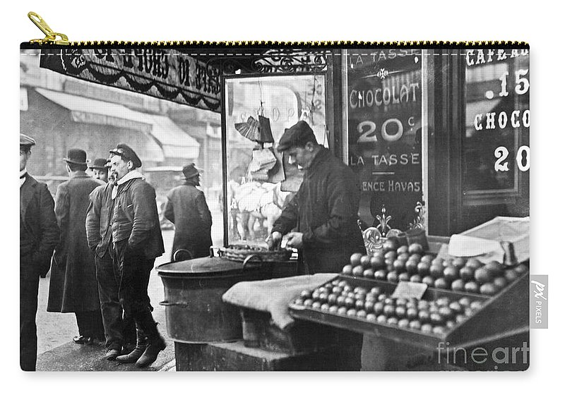 1900 Carry-all Pouch featuring the photograph Paris: Chestnut Vendor by Granger
