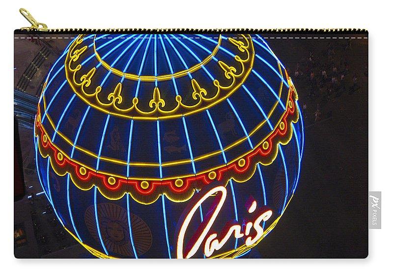 Las Vegas Carry-all Pouch featuring the photograph Paris Hotel Las Vegas by Jon Berghoff