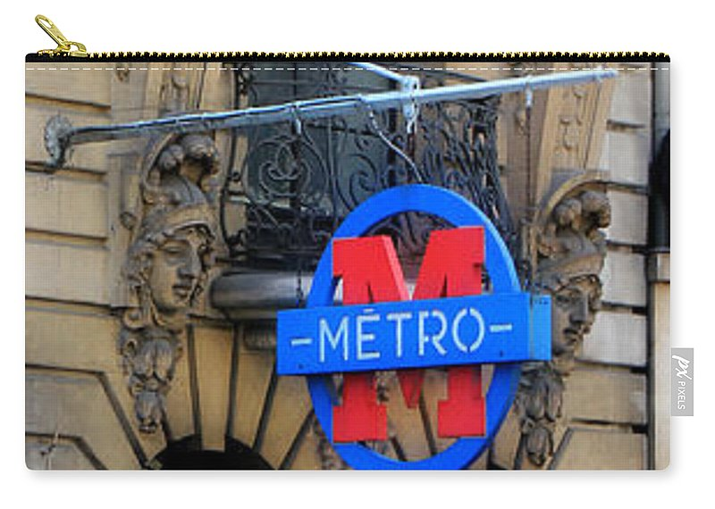 Paris Carry-all Pouch featuring the photograph Paris Metro 5 by Andrew Fare