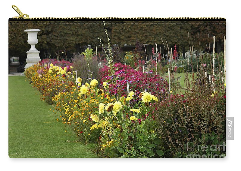 Paris Carry-all Pouch featuring the photograph Parisian Park Morning Garden by Mike Nellums