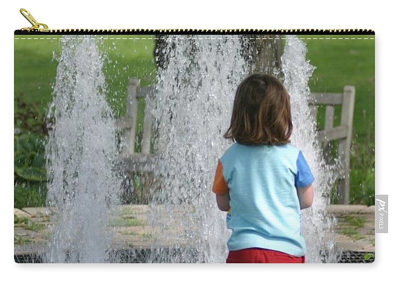 Kids Carry-all Pouch featuring the photograph Childhood Waterpark Dreams by Ian Mcadie