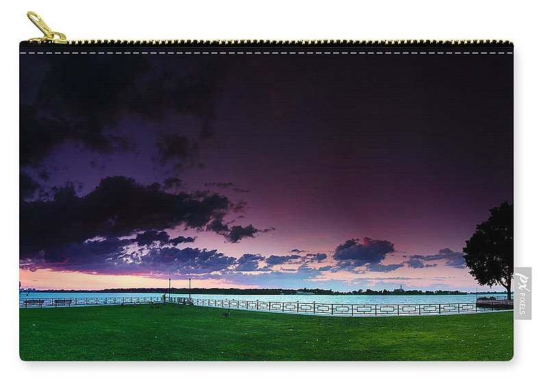 Windsor Carry-all Pouch featuring the photograph Park Pano by Cale Best