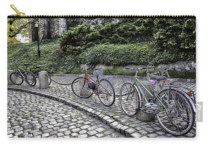 Bike Carry-all Pouch featuring the photograph Parked 2 by Madeline Ellis