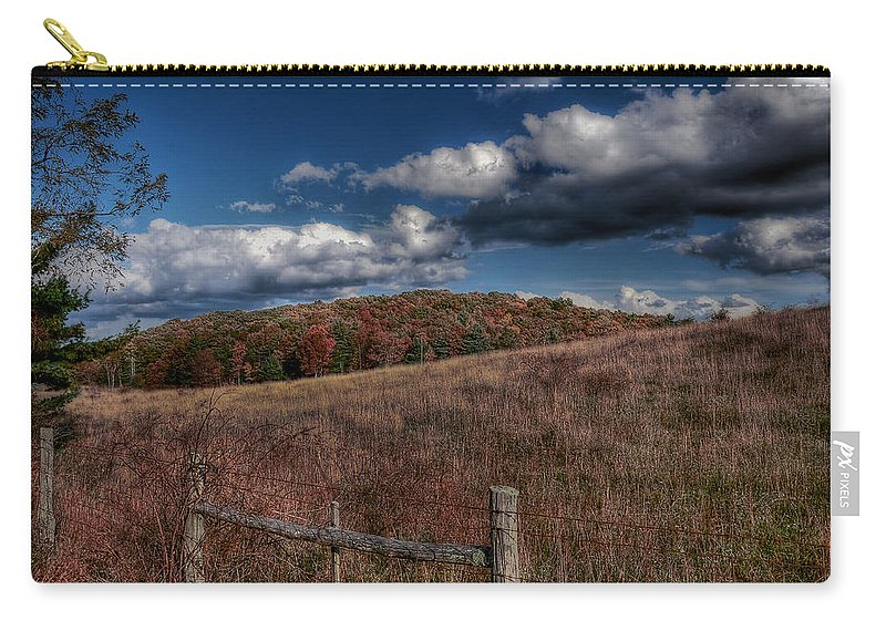 Blue Ridge Parkway Carry-all Pouch featuring the photograph Parkway Fence by Todd Hostetter