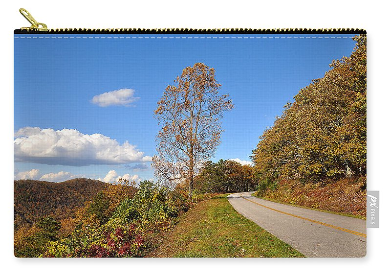 Blue Ridge Parkway Carry-all Pouch featuring the photograph Parkway by Todd Hostetter
